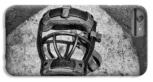 Baseball Catchers Mask Vintage In Black And White IPhone 6 Plus Case by Paul Ward
