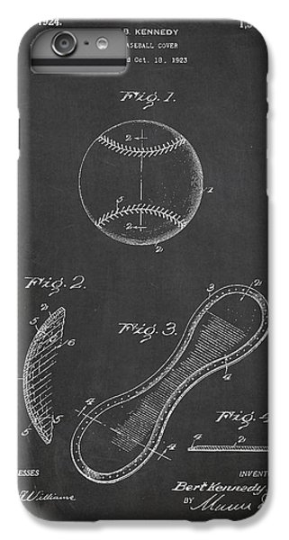 Baseball Cover Patent Drawing From 1923 IPhone 6 Plus Case by Aged Pixel