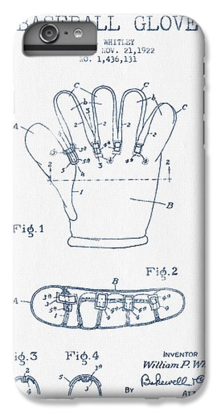 Baseball Glove Patent Drawing From 1922 - Blue Ink IPhone 6 Plus Case