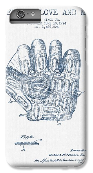 Baseball Glove Patent Drawing From 1924 - Blue Ink IPhone 6 Plus Case