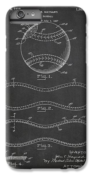 Baseball Patent Drawing From 1927 IPhone 6 Plus Case