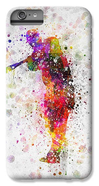 Baseball Player - Taking A Swing IPhone 6 Plus Case by Aged Pixel