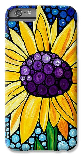 Sunflower iPhone 6 Plus Case - Basking In The Glory by Sharon Cummings