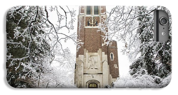 Beaumont Tower Ice Storm  IPhone 6 Plus Case by John McGraw