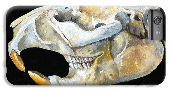 Beaver Skull 1 IPhone 6 Plus Case by Catherine Twomey