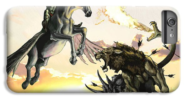 Pegasus iPhone 6 Plus Case - Bellephron Slays Chimera by Matt Kedzierski