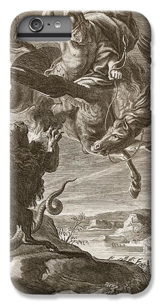 Pegasus iPhone 6 Plus Case - Bellerophon Fights The Chimaera, 1731 by Bernard Picart