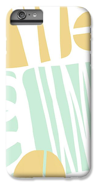Bento 1- Abstract Shape Painting IPhone 6 Plus Case by Linda Woods