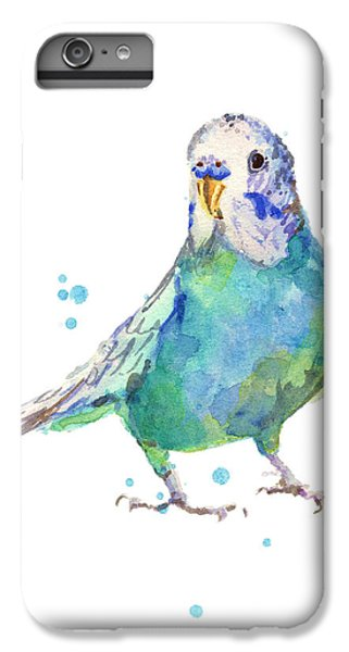 Parakeet iPhone 6 Plus Case - Bertie Wonderblue The Budgie by Alison Fennell