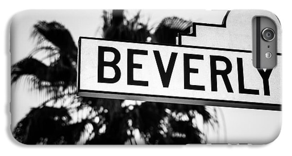 Beverly Boulevard Street Sign In Black An White IPhone 6 Plus Case by Paul Velgos