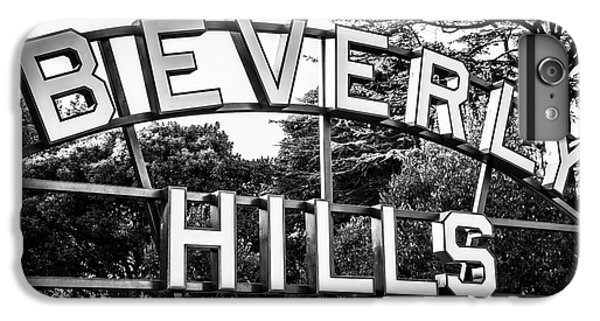 Beverly Hills Sign In Black And White IPhone 6 Plus Case by Paul Velgos