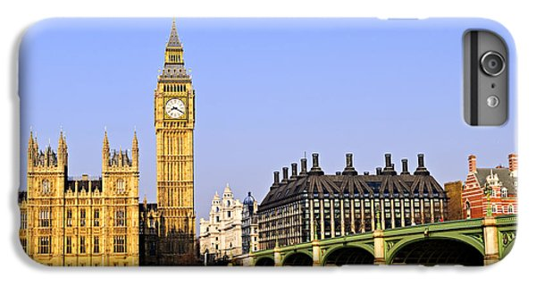 Big Ben And Westminster Bridge IPhone 6 Plus Case by Elena Elisseeva