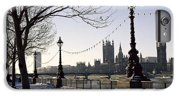 Big Ben Westminster Abbey And Houses Of Parliament In The Snow IPhone 6 Plus Case by Robert Hallmann