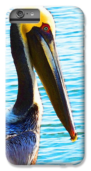 Big Bill - Pelican Art By Sharon Cummings IPhone 6 Plus Case by Sharon Cummings