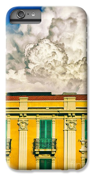 IPhone 6 Plus Case featuring the photograph Big Cloud Over City Building by Silvia Ganora