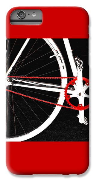 Bicycle iPhone 6 Plus Case - Bike In Black White And Red No 2 by Ben and Raisa Gertsberg