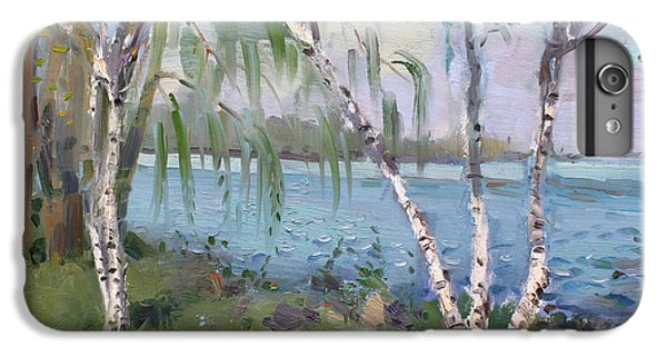 Goat iPhone 6 Plus Case - Birch Trees By The River by Ylli Haruni