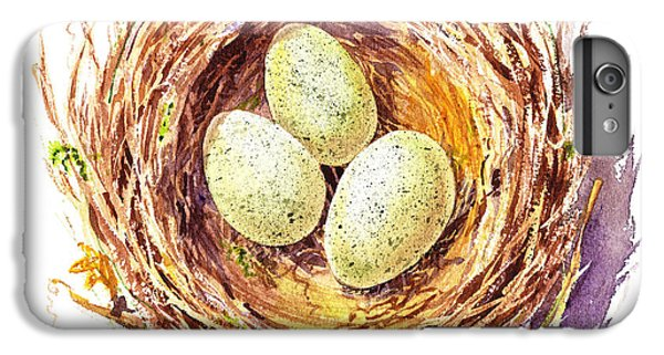 Bird Nest A Happy Trio IPhone 6 Plus Case by Irina Sztukowski