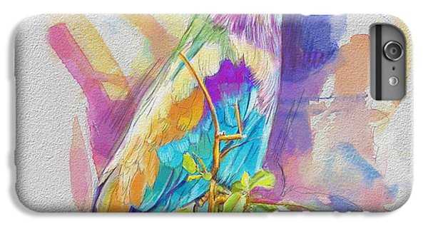 Parakeet iPhone 6 Plus Case - Bird On A Twig by Catf