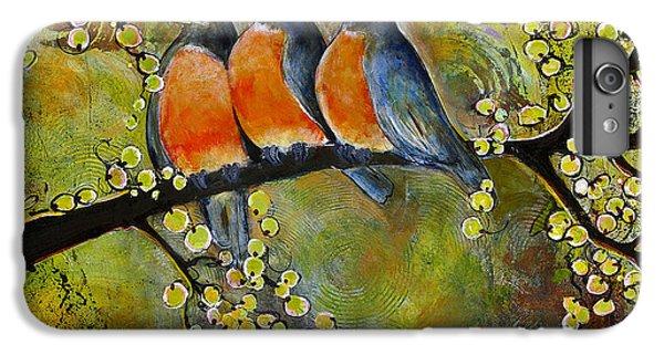 Three Little Robin Birds IPhone 6 Plus Case