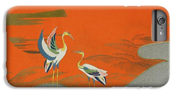 Birds At Sunset On The Lake IPhone 6 Plus Case by Kamisaka Sekka
