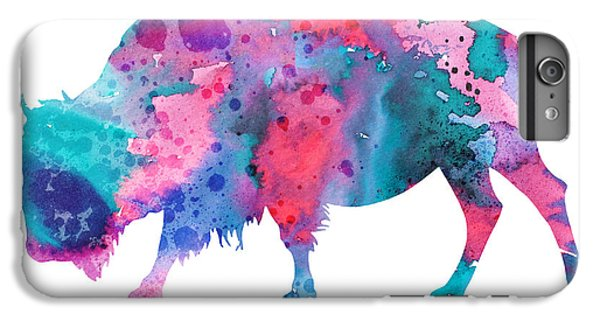 Bison 2 IPhone 6 Plus Case by Watercolor Girl
