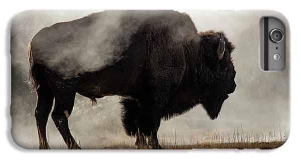 Wildlife iPhone 6 Plus Case - Bison In Mist, Upper Geyser Basin by Adam Jones