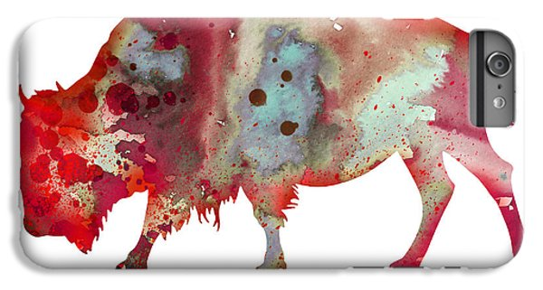 Bison IPhone 6 Plus Case by Watercolor Girl