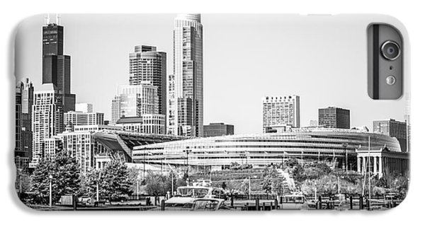 Black And White Picture Of Chicago Skyline IPhone 6 Plus Case by Paul Velgos