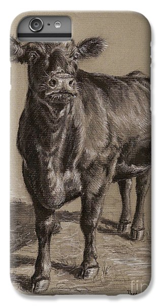 Cow iPhone 6 Plus Case - Black Angus Cow 1 by Nicole Troup
