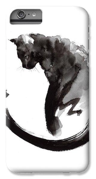 Cat iPhone 6 Plus Case - Black Cat by Mariusz Szmerdt
