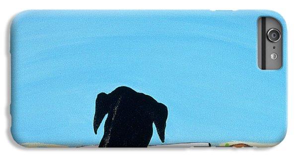 Barren iPhone 6 Plus Case - Black Dog In Chestertown, 1998 by Marjorie Weiss