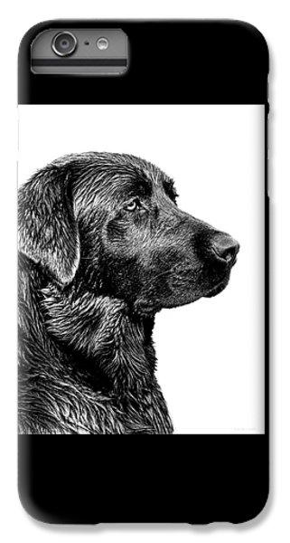 Black Labrador Retriever Dog Monochrome IPhone 6 Plus Case