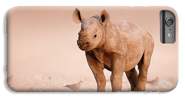 Dove iPhone 6 Plus Case - Black Rhinoceros Baby by Johan Swanepoel