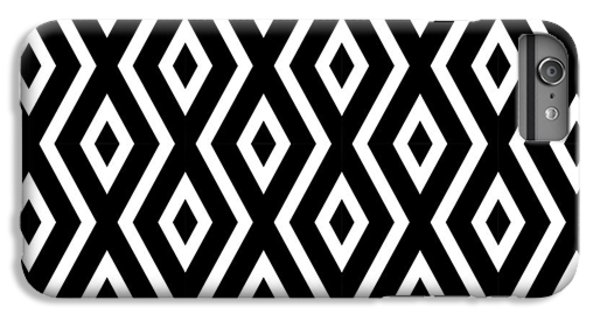 White iPhone 6 Plus Case - Black And White Pattern by Christina Rollo