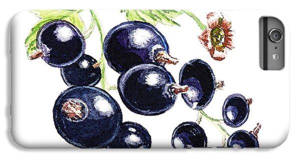 IPhone 6 Plus Case featuring the painting Blackcurrant Berries  by Irina Sztukowski