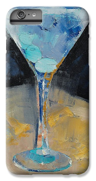 Blue Art Martini IPhone 6 Plus Case by Michael Creese