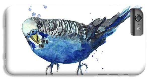 Parakeet iPhone 6 Plus Case - Blue Budgerigar by Alison Fennell