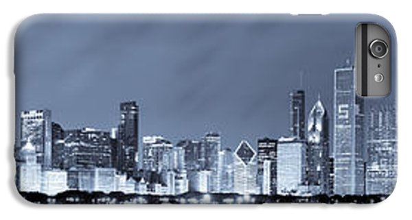 Blue Chicago Skyline IPhone 6 Plus Case by Sebastian Musial