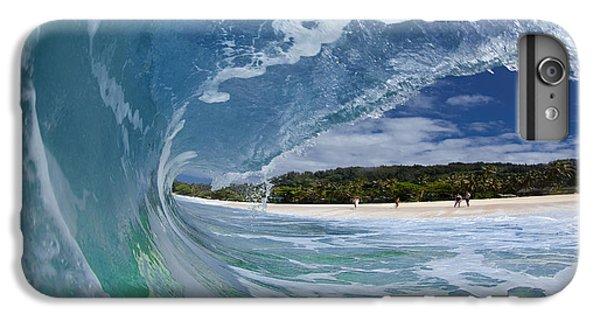 Water Ocean iPhone 6 Plus Case - Blue Foam by Sean Davey