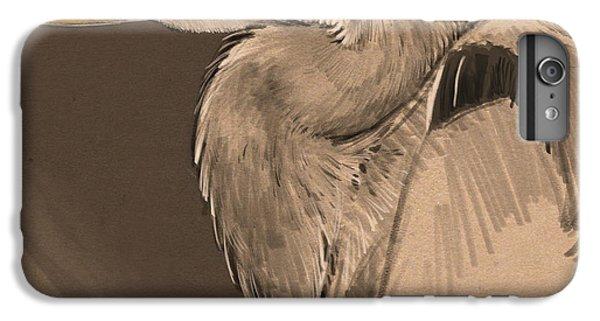 Blue Heron Sketch IPhone 6 Plus Case