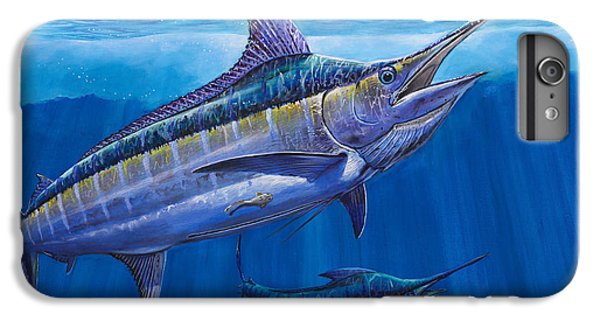 Blue Marlin Bite Off001 IPhone 6 Plus Case