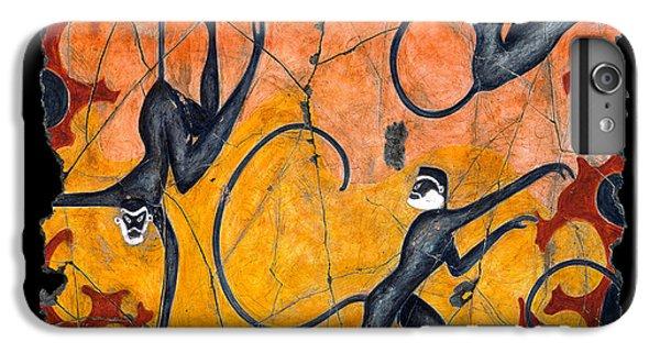 Bogdanoff iPhone 6 Plus Case - Blue Monkeys No. 9 by Steve Bogdanoff
