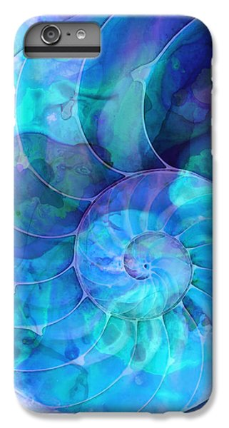 Miami iPhone 6 Plus Case - Blue Nautilus Shell By Sharon Cummings by Sharon Cummings