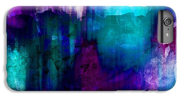 Blue Rain  Abstract Art   IPhone 6 Plus Case by Ann Powell
