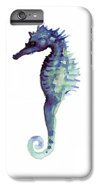 Blue Seahorse IPhone 6 Plus Case by Joanna Szmerdt