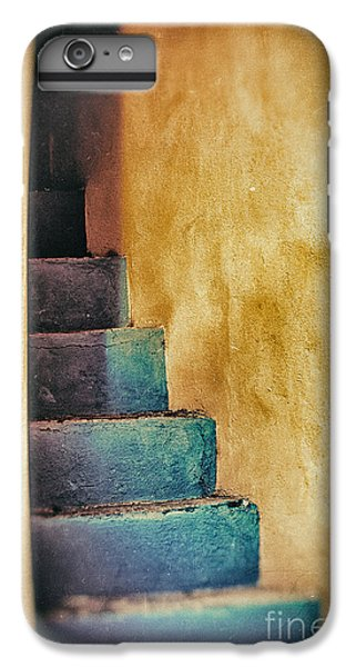 Blue Stairs - Yellow Wall    IPhone 6 Plus Case by Silvia Ganora