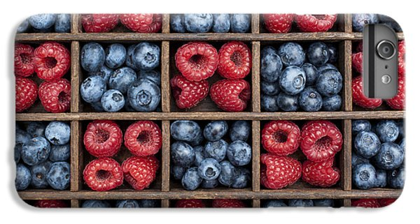 Blueberries And Raspberries  IPhone 6 Plus Case by Tim Gainey