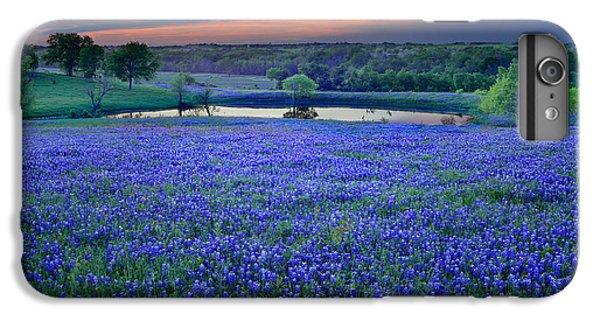 Bluebonnet Lake Vista Texas Sunset - Wildflowers Landscape Flowers Pond IPhone 6 Plus Case