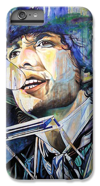 Bob Dylan iPhone 6 Plus Case - Bob Dylan Tangled Up In Blue by Joshua Morton